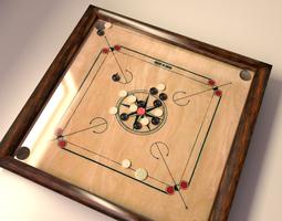 3D model Carrom Board Game