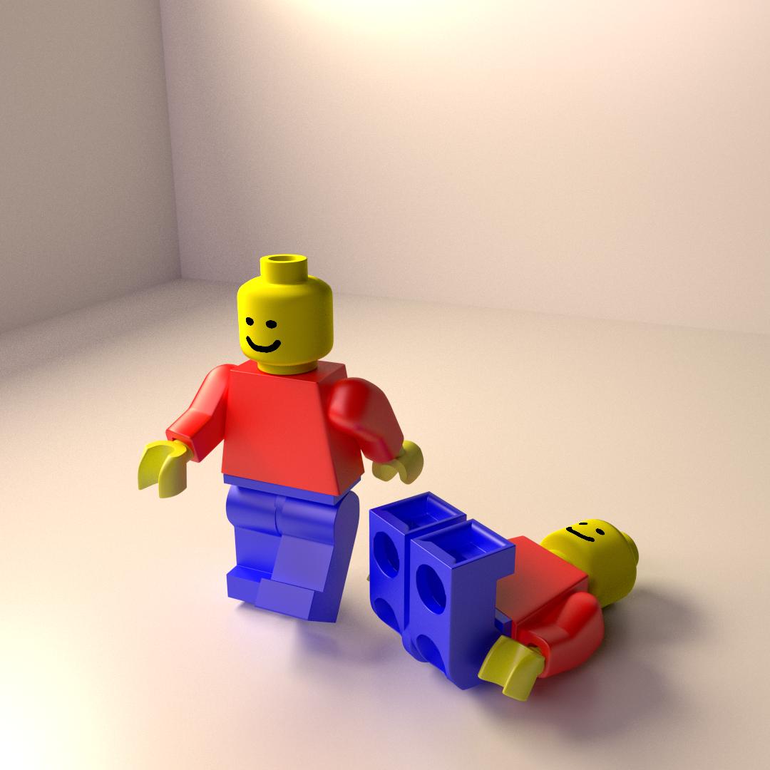 Lego Minifigure 3D Model 3DS FBX BLEND DAE   CGTrader.com