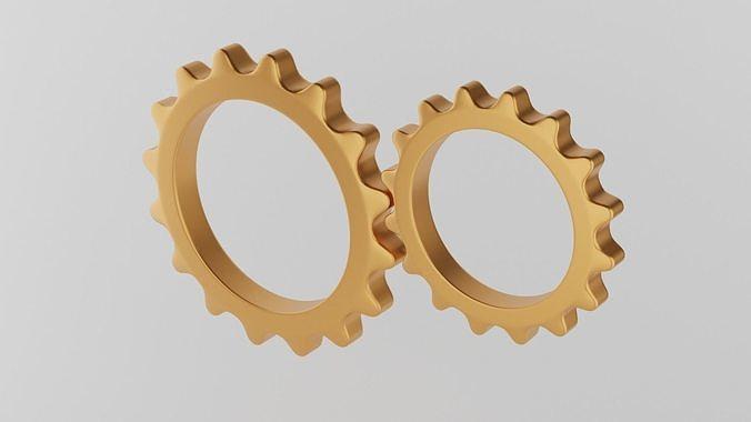 Minimal gears symbol