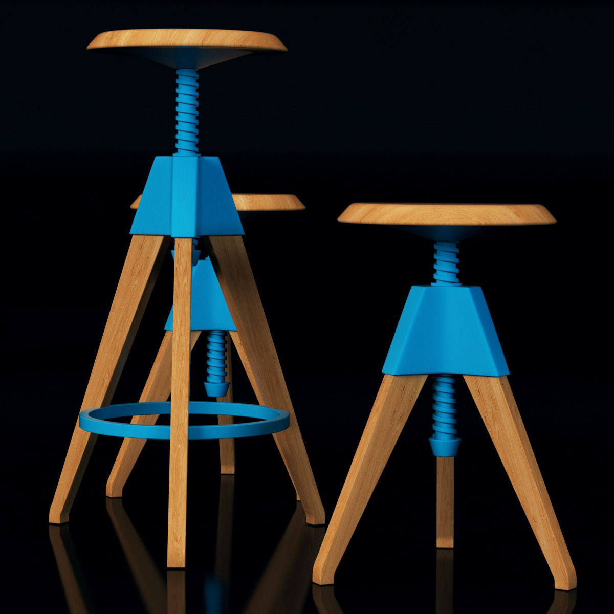 Cosmo Jerry Bar Stool 3d Model Max Cgtrader Com