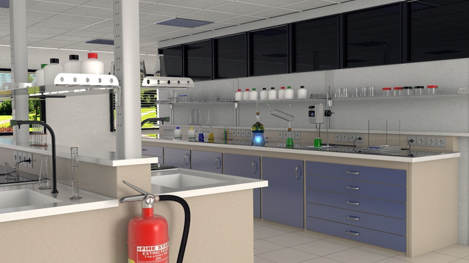 chemistry lab 3d model fbx blend 1