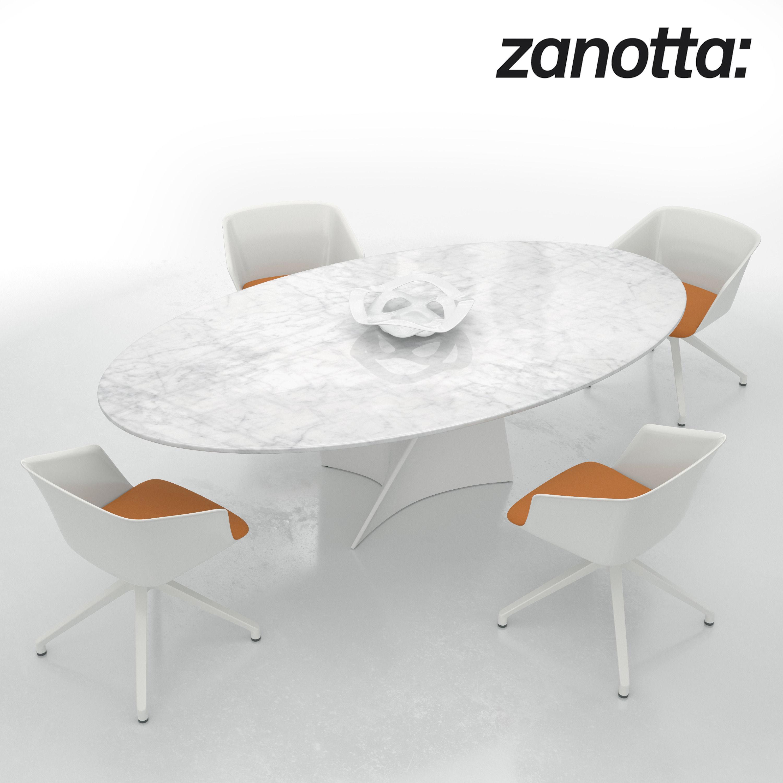 swivel armchair liza and elica table 3d model max obj fbx 1