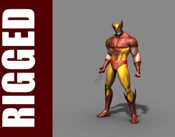 rigged 3d model wolverine rig