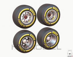 f1 tire formula open wheel 3d model max obj