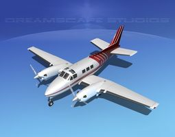 3D model Beechcraft King Air C90 V06