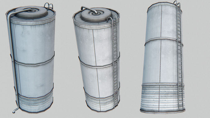 silo 3d model low-poly max obj mtl 3ds fbx dae tga 1