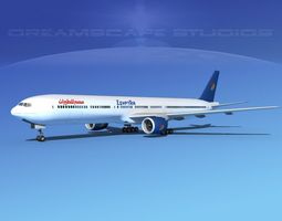 3D model Boeing 777-300 MP Egypt Airlines
