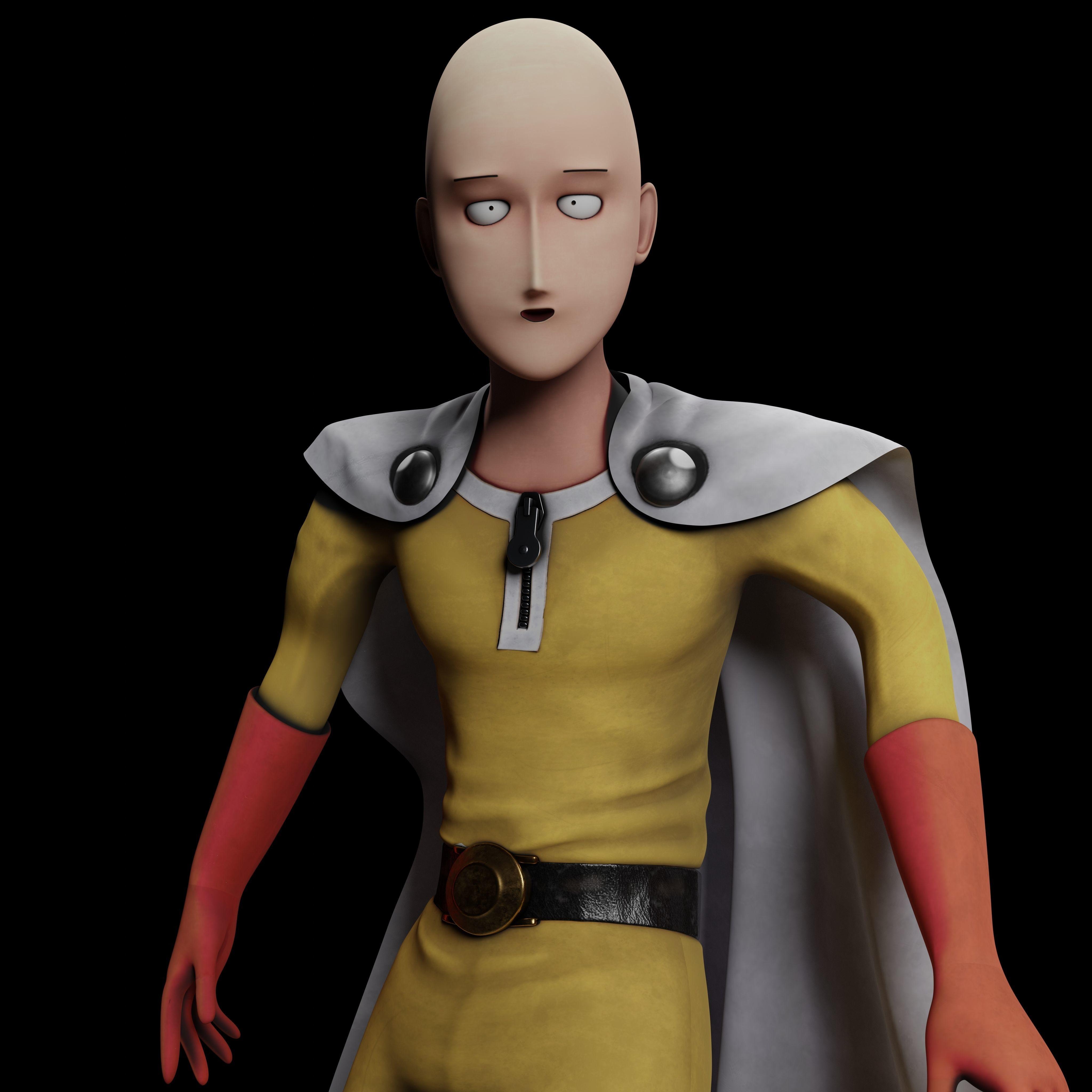 One Punch Man Saitama - 3D Print Model | CGTrader