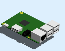 3D print model Raspberry Pi