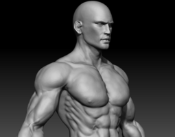 3D Realistic Muscular Man