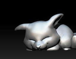Cute Sleepy Fox STL 3D printable model