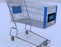 walmart shopping cart 3d model max obj 3ds fbx