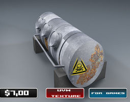 chemical tank - industrial tank 3d asset realtime