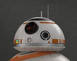 3d model animated bb-8 droid - all details