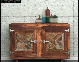 Sideboard Kare Epoca with Color accessories 3D Model