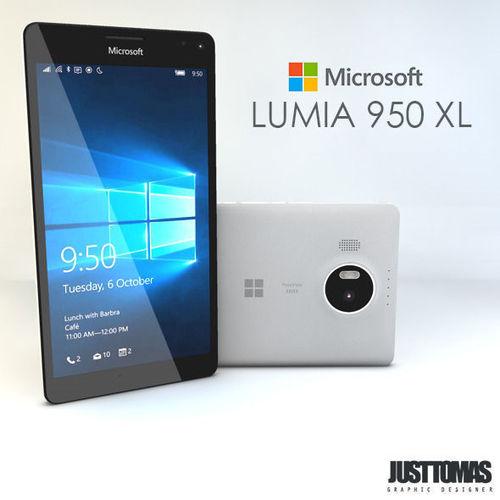microsoft lumia 950 xl 3d model obj mtl 3ds c4d 1
