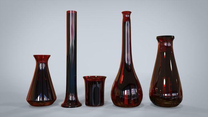 glass lab equipments 3d model max 1