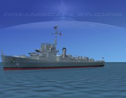 3D Destroyer DE-70 USS Joseph E Campbell