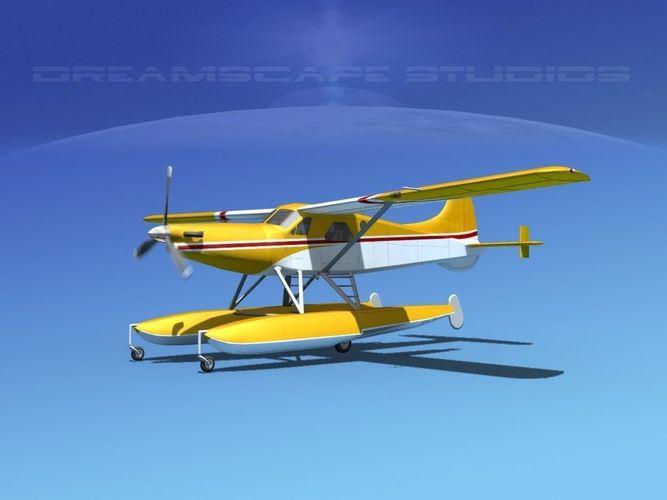 dehavilland dhc-2 turbo beaver v19 3d model animated max obj mtl 3ds fbx lwo lw lws dxf 1