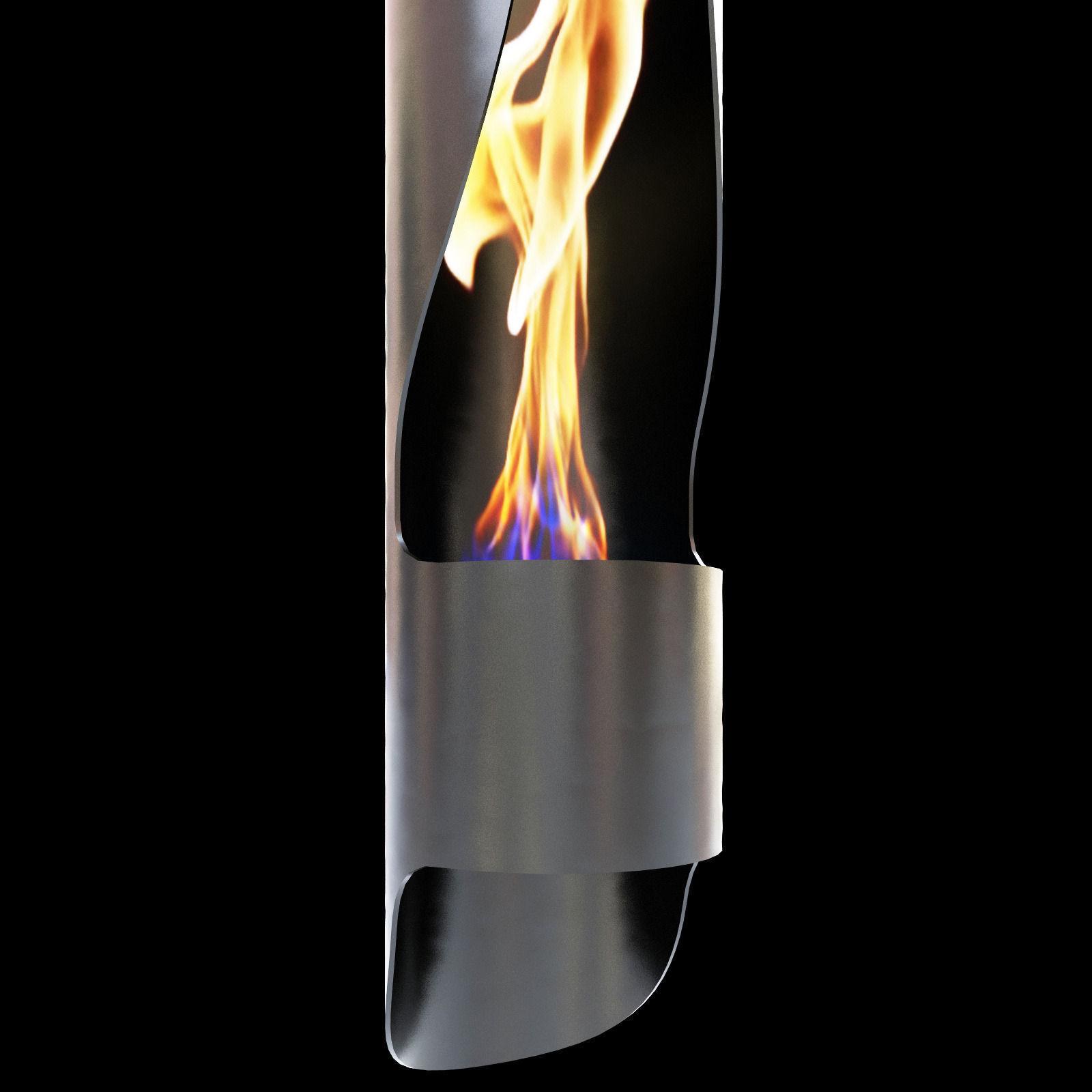 acquaefuoco wellness mood tube fireplace 3d model max obj 3ds fbx mtl