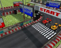 3D model Racing track
