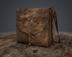 3d model realtime leather bag