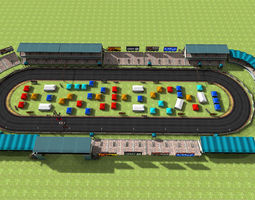 3D asset Car Racing track