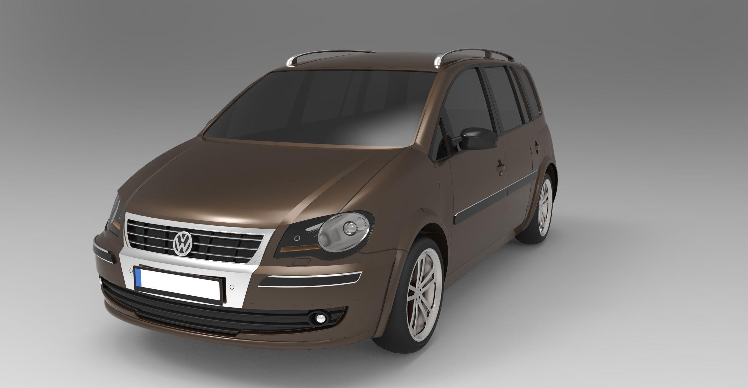 volkswagen touran 2009 3d model max obj sldprt sldasm. Black Bedroom Furniture Sets. Home Design Ideas