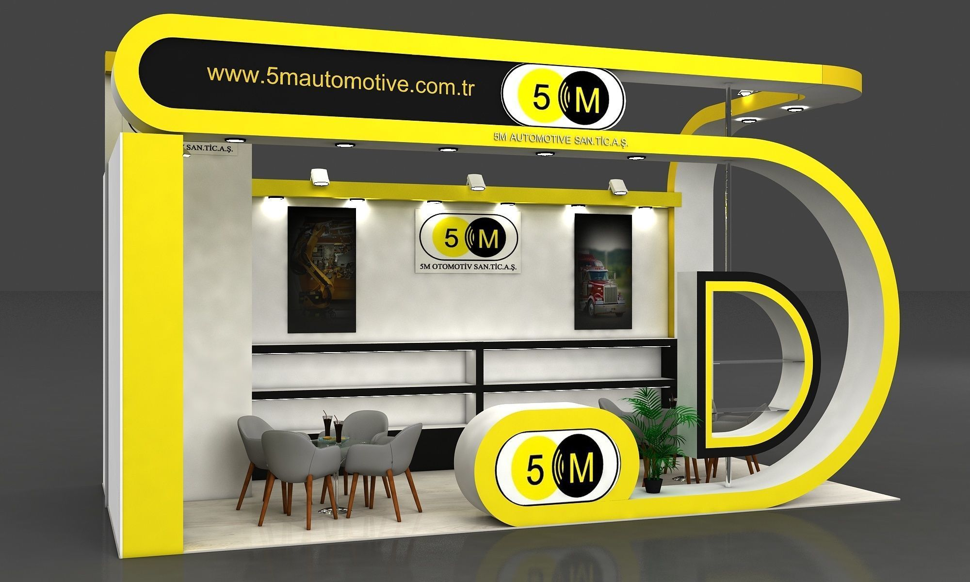5M Exhibition Stall Size 8 m x 4 m  Height 366 cm