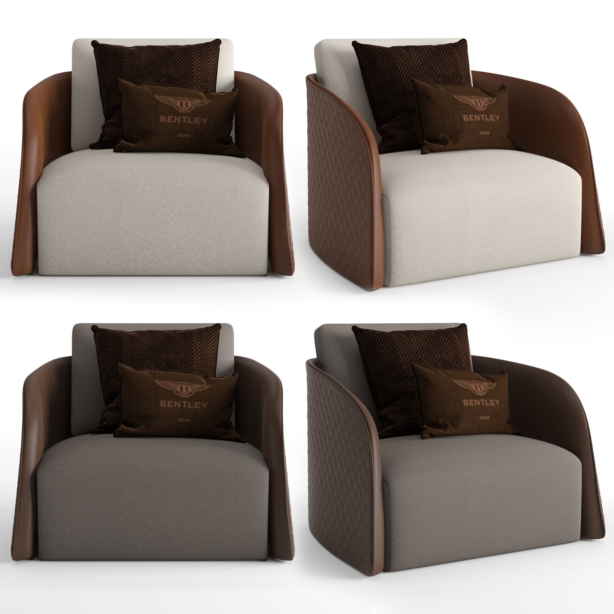 3D Bentley Home Swan Armchair | CGTrader