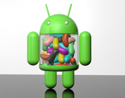 android jellybean mascot 2 3d model max 3ds