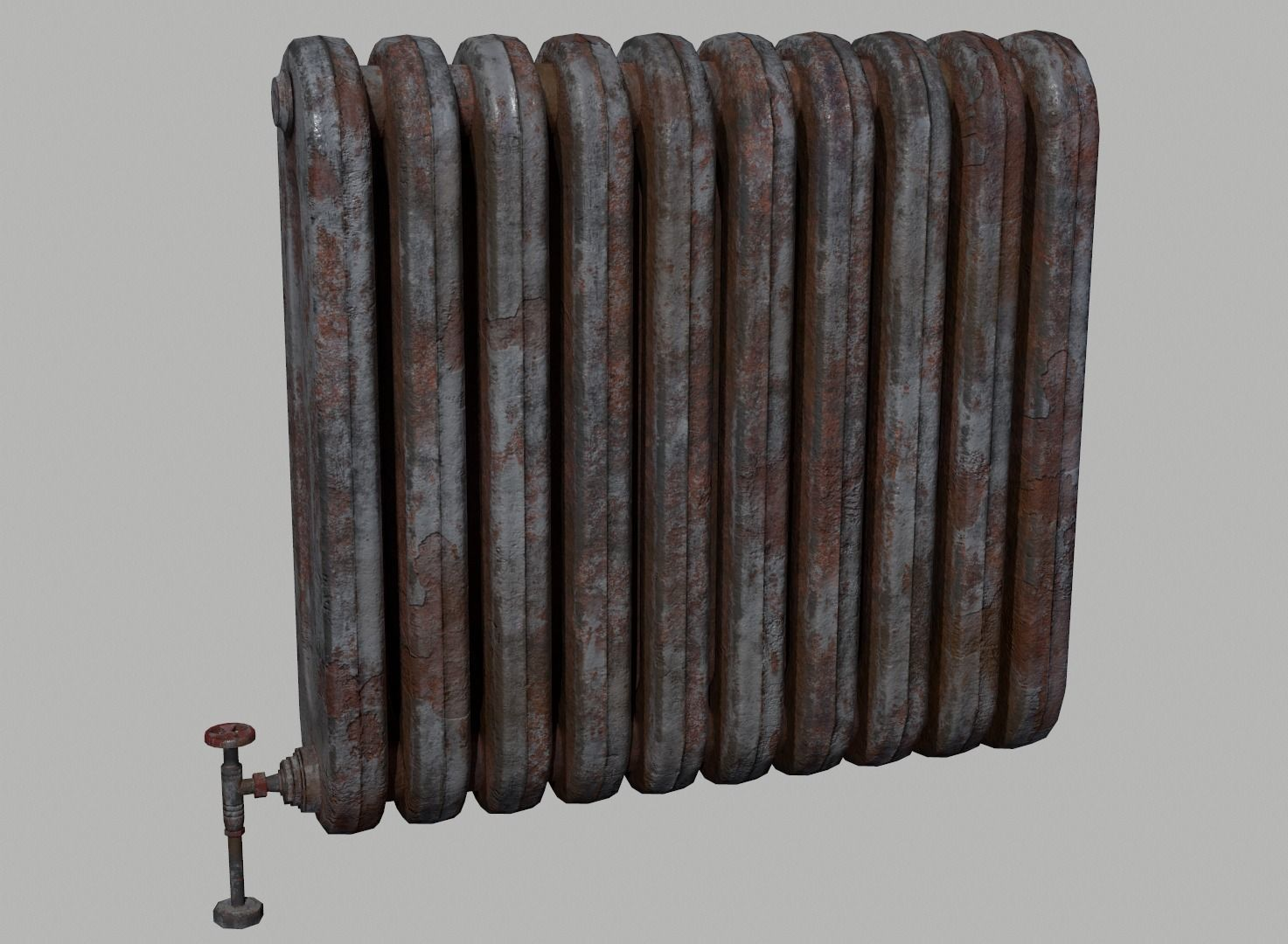 Old rusted radiator heater
