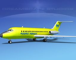 3D model Douglas DC-9-20 Hughes Air West