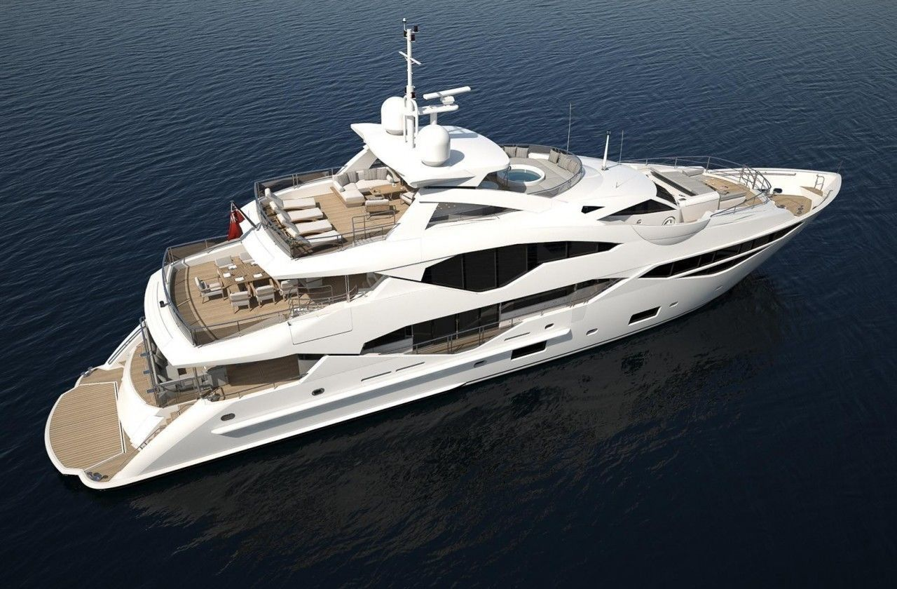 Sunseeker 131 yacht 3D Print file in high polygon with support