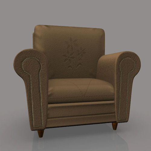 sofa chair 3d model obj fbx ma mb mtl 1