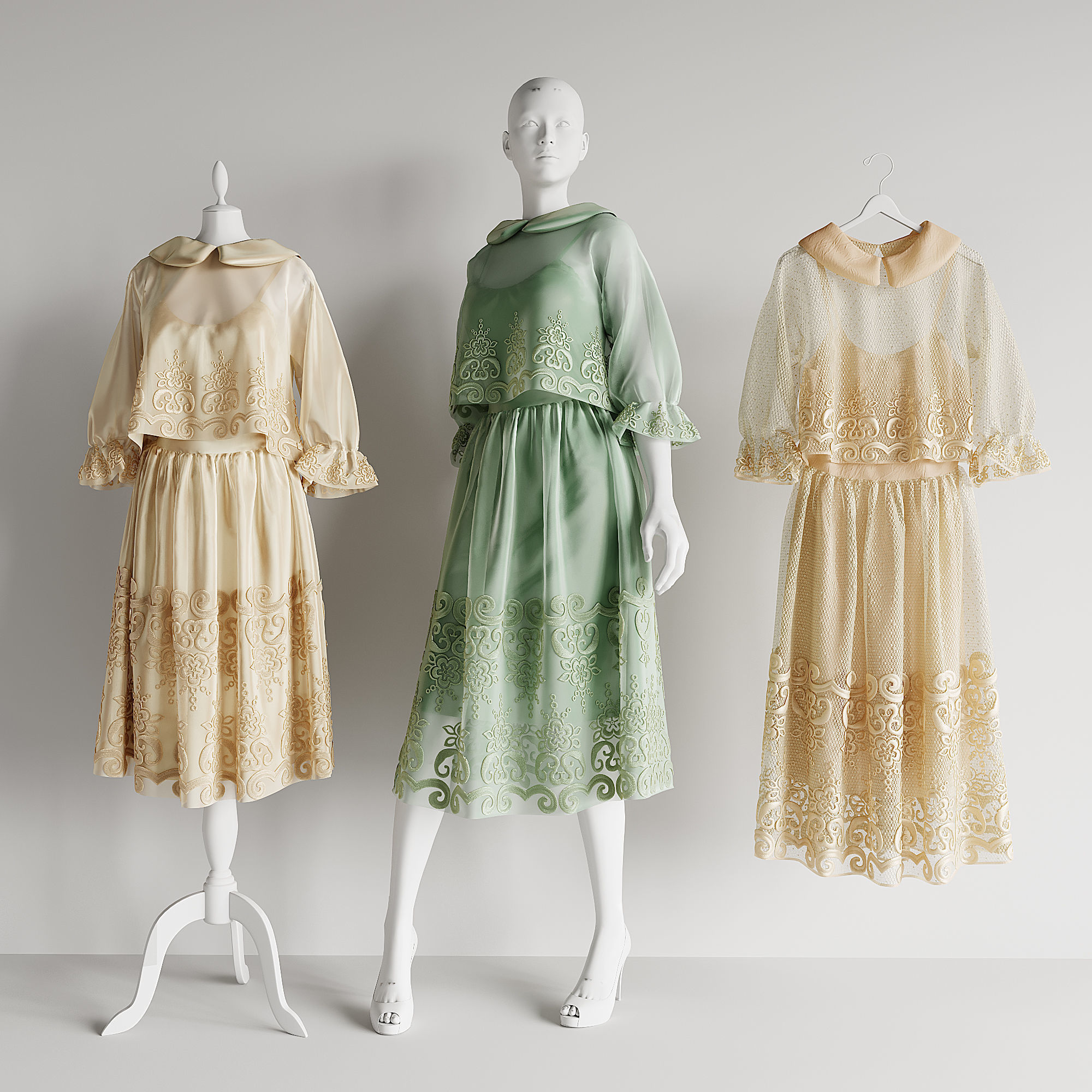 dress mannequin hanger wardrobe shop boutique salon
