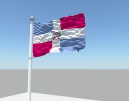 Dominican Republic flag 3D model