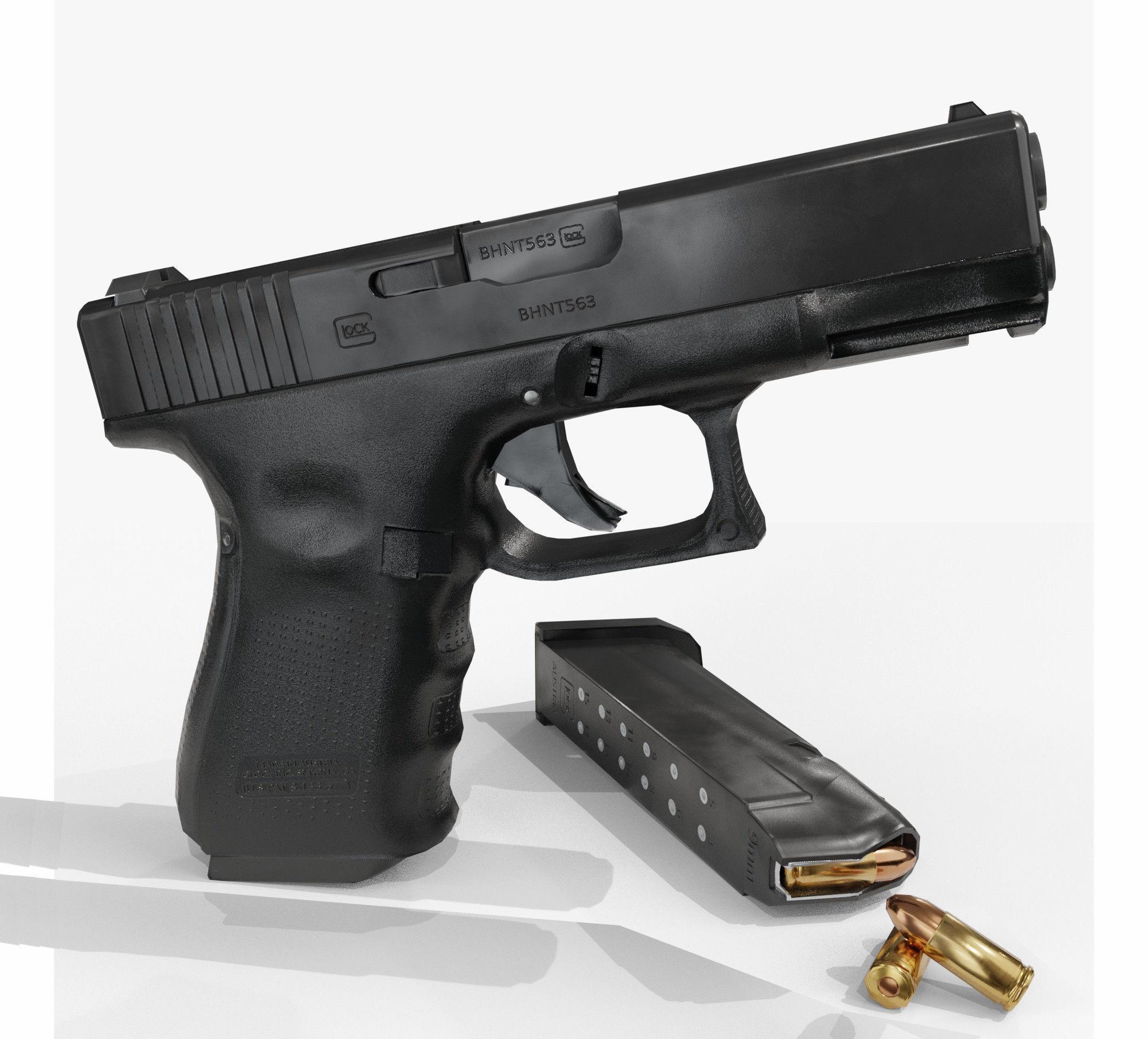 Glock 19 lowpoly