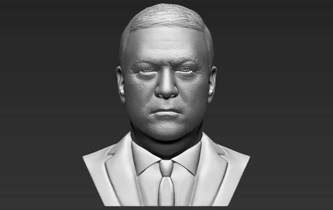 Mike Pompeo bust 3D printing ready stl obj formats
