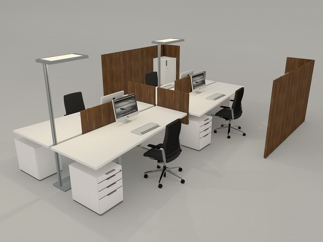 free office furniture. Office Desk With Accessories 3d Model 3ds Fbx C4d 1 Free Furniture
