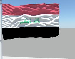 Iraq flag 3D model