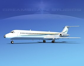 3D model Douglas DC-9-40 Executive 3