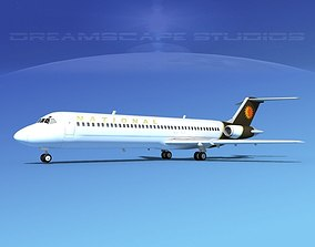 Douglas DC-9-40 National 3D model