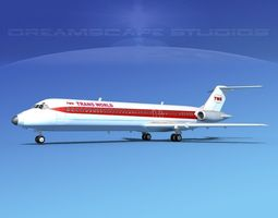 Douglas DC-9-40 Trans World 1 3D