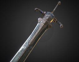 sword of artorias 3d model low-poly