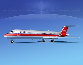 Douglas DC-9-40 US Air 3D model