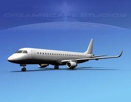 Embraer E-190 LP SS 3D model