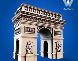 3d printable model arc de triomphe