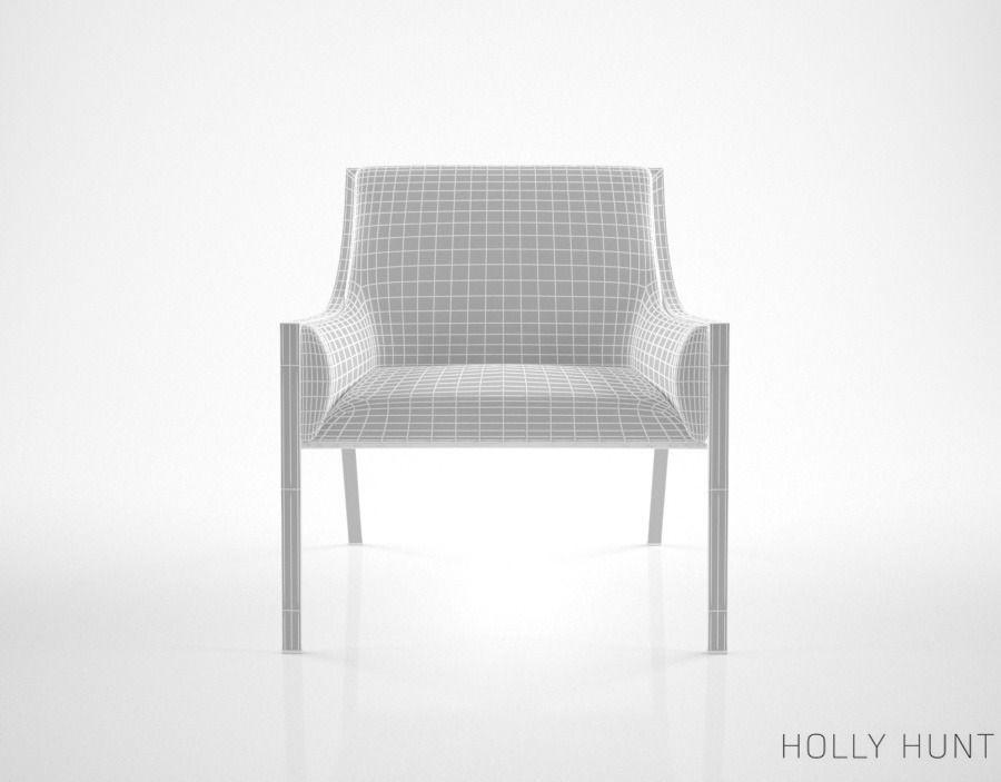 ... Holly Hunt Aileron Lounge Chair 3d Model Max Obj Fbx Mtl 5