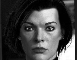 3d model Milla Jovovich head 3D Model